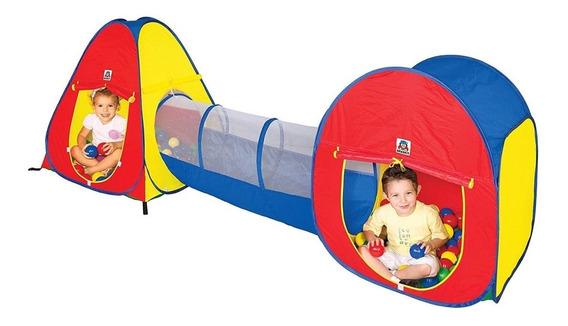 Barraca Toca Túnel Infantil Tipo Piscina De Bolinhas Braskit