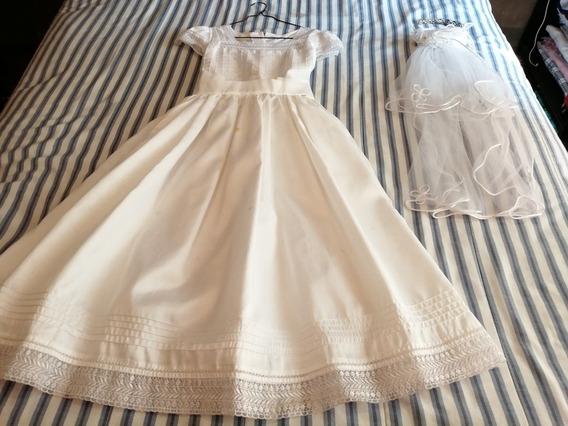 Vestido De 1ra. Comunión Para Niña