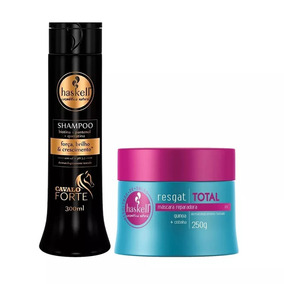Máscara Resgat Total 250g + Shampoo Cavalo Forte 300ml
