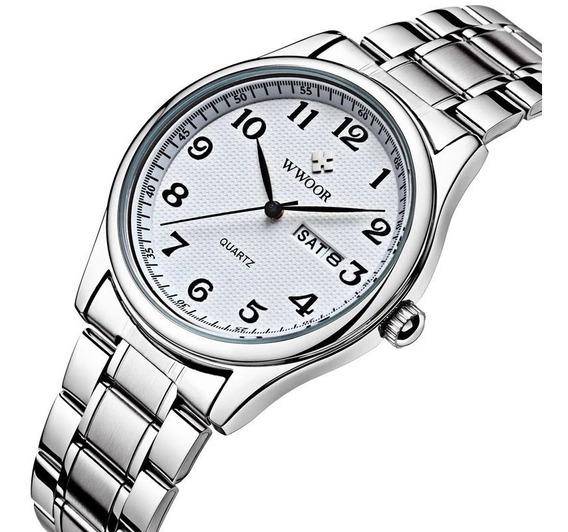 Relógio Masculino Wwoor Original Social Luxo Data Promoção