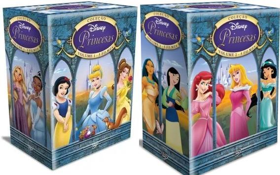 Box Dvd Coleçao Disney Princesas Volumes 1 & 2 Novo Original