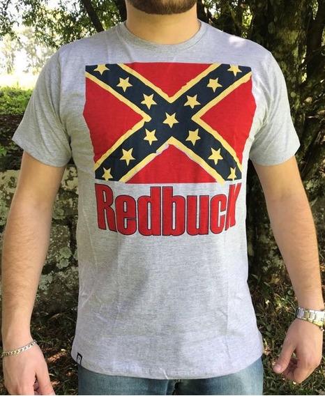 Camiseta Country Rebel Flag Bandeira Confederado Cinza Dixie
