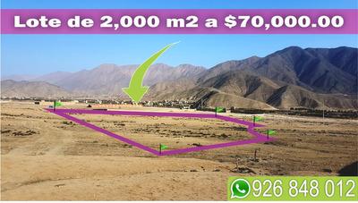 Ocasión Lote De Terreno De 2,000 M2 Para Casa De Campo