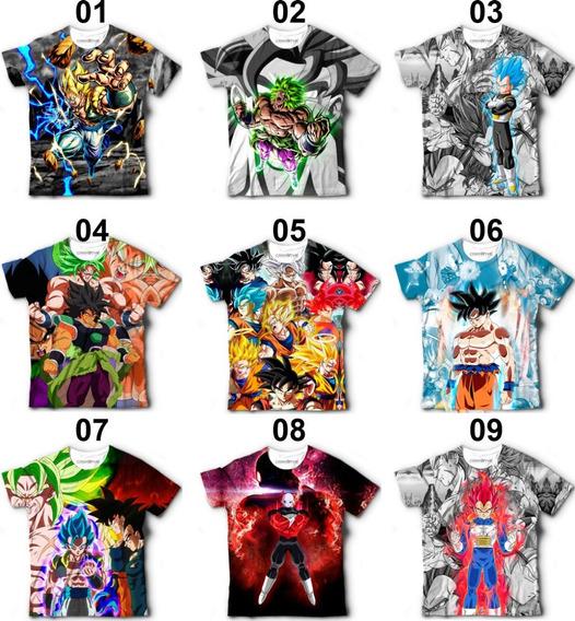 3 Camisetas Dragon Ball Super Goku Broly - Frete Grátis