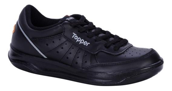 Zapatilla Topper Cuero X Forcer Negro/gris/naranja