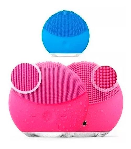 Escova Limpeza Facial Massageador Recarregável Mini Luna