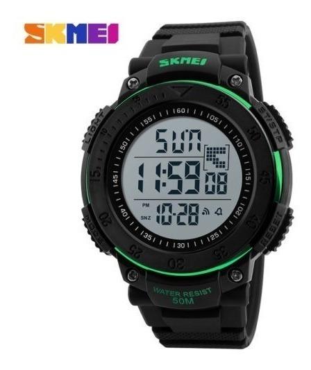 Relógio Masculino Skmei Led Digital Pedômetro À Prova D