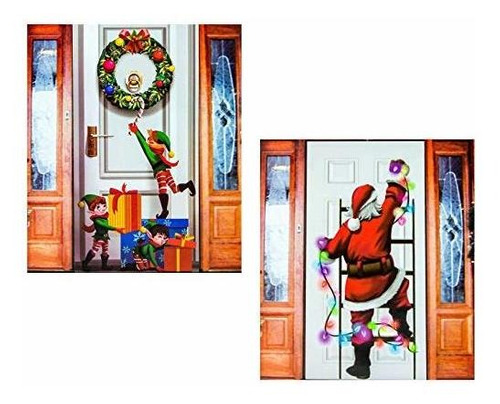 Imagen 1 de 3 de Cubierta Regente De La Puerta De Navidad (paquete De 2) Deco