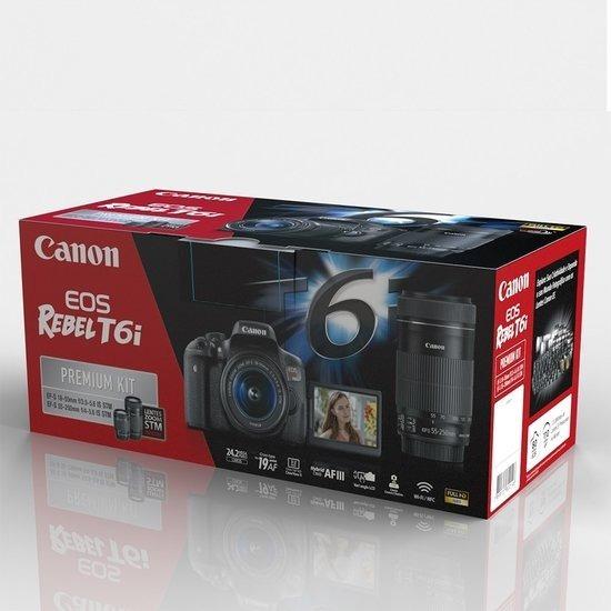 Canon T6i Premium 18-55mm 55-250mm Garantia Sjuros