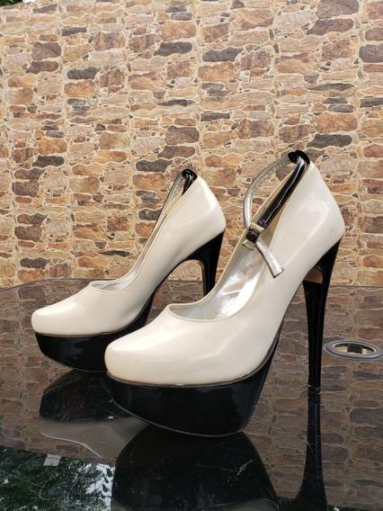 Zapatos Charol Blanco Y Negro