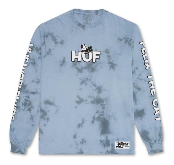 Playera Huf Felix The Cat Crystal Wash Long Sleeve Original