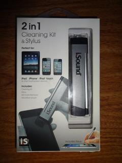 Kit De Limpeza + Caneta Stylus Para iPad iPhone E iPod