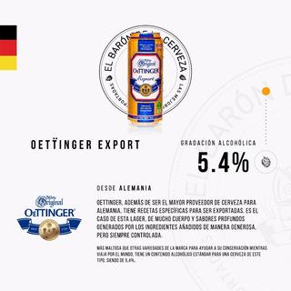 Cerveza Importada Oettinger Export Lata X 500ml - Alemania