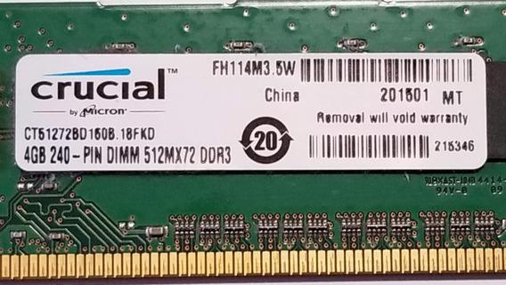Memoria Ram Ddr3 4gb Crucial 1600mhz Ct51272bd160b.18fkd