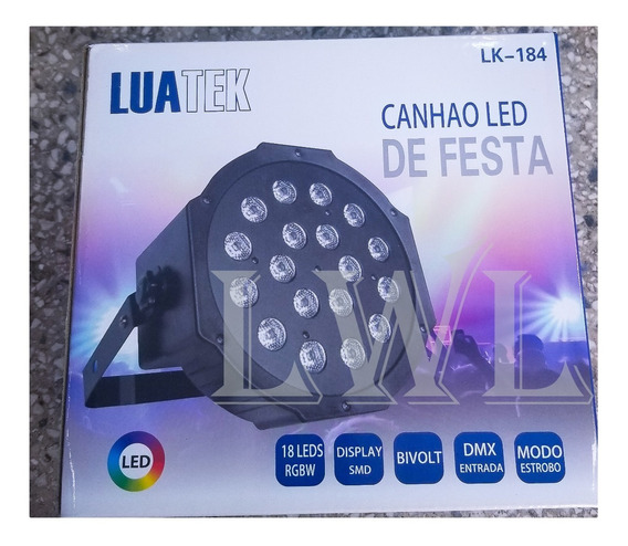 Refletor Led Par 64 Rgb 18 Leds Strobo Festa Iluminação Dmx