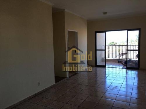 Apartamento Com 2 Dormitórios Para Alugar, 81 M² Por R$ 950/mês - Vila Monte Alegre - Ribeirão Preto/sp - Ap2802