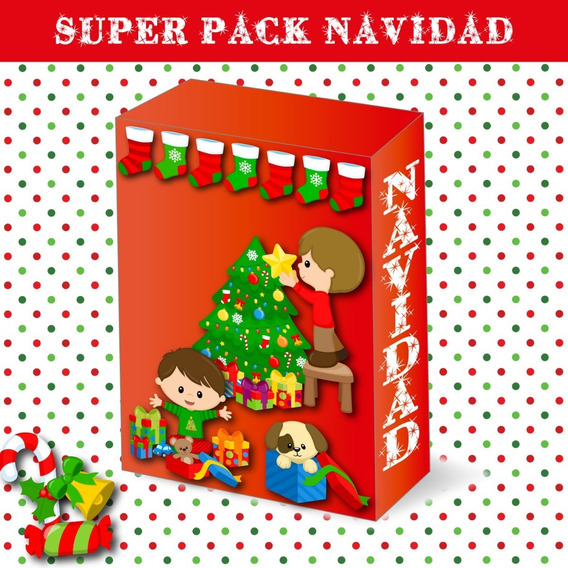 Kit Imprimible Super Pack Navidad - Imagenes Png- Cliparts-