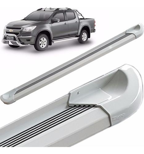 Estribos Aluminio Blanco G2 Bepo P/ Chevrolet S10 2013 2019