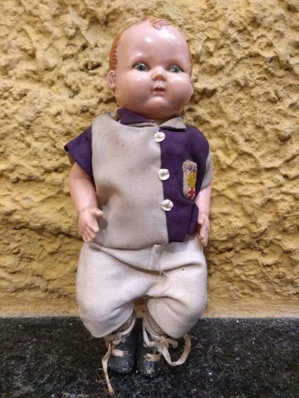 Antigo Brinquedo Boneco Com Cabeça Corpo Plástico - C 6161