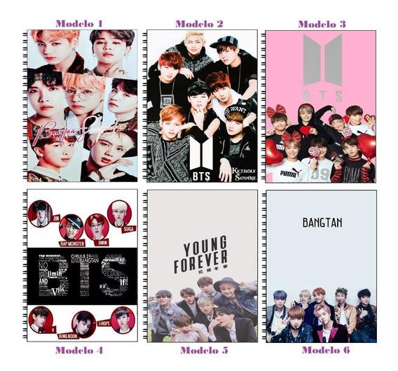 5 Cadernos Kpop Bts 1 Matéria Universitário 96 Folhas