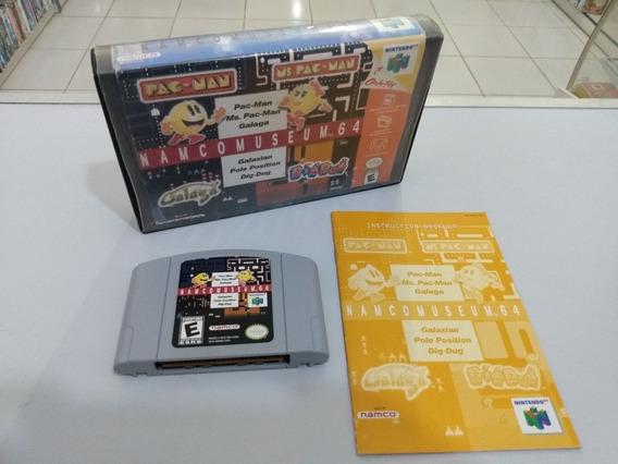Namco Museum 64 - N-64 - C/ Caixa Locadora E Manual Original