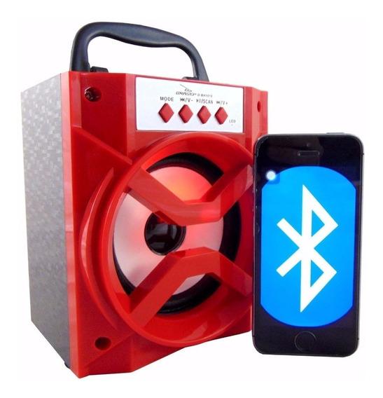 Kit 05 Caixa De Som Bluetooth Portátil Rádio Fm Micro Sd 8w