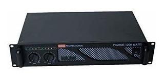 Amplificador 2400w Nuevo 6 Meses De Garantia 1200w Por Canal