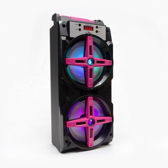 Caixa De Som Bluetooth 2 Alto Falante Amplificada Potente