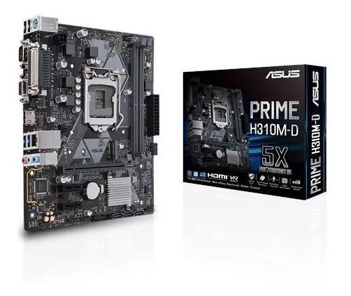 Placa Mãe Asus Prime H310m-d Intel 1151 Ddr4 Chipset H310
