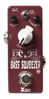 Pedal De Efecto Compresor De Bajo Xvive Bass Squeezer