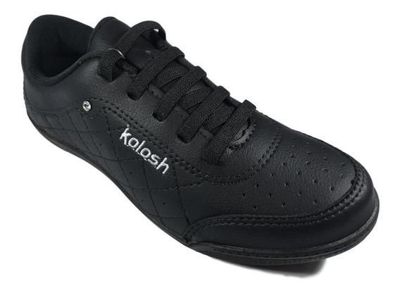 Tênis Feminino Kolosh Casual Preto Elástico Conforto C1301