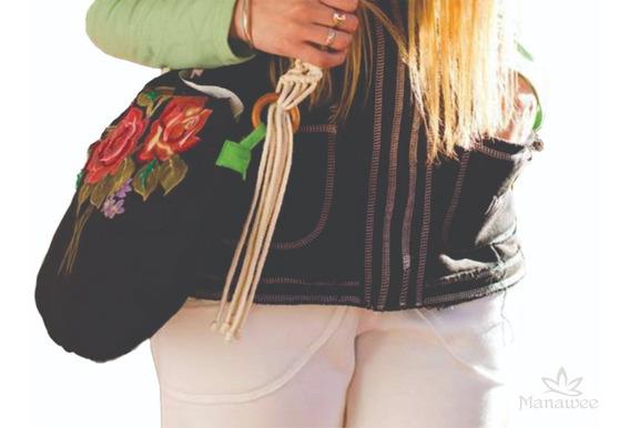 Cartera Manawee Mujer Rosas Bolso Artesanal