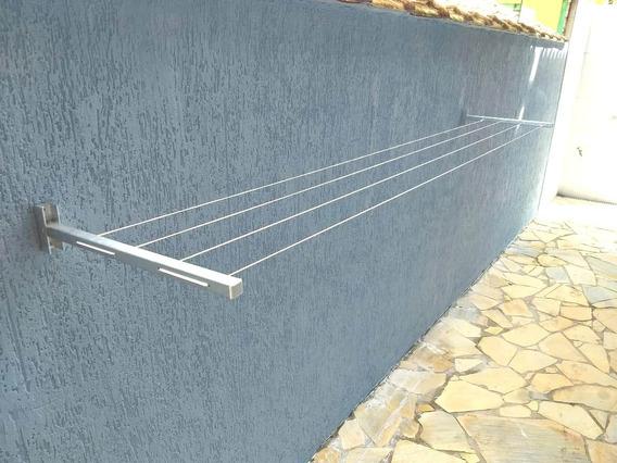 Varal Aluminio Articulado Dobrável Parede Muro Menor Preço