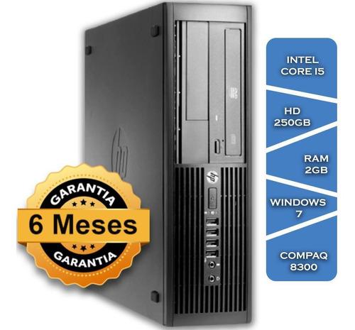 Imagem 1 de 3 de Pc Hp Compaq 8300 Core I5 2400gº Hd250 2gb Ram Win7 Small