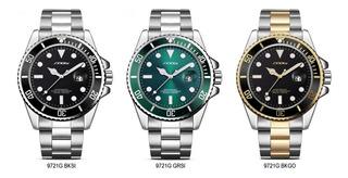 Reloj Sinobi Nb9721g Sport Elegante_rolex Submariner Style
