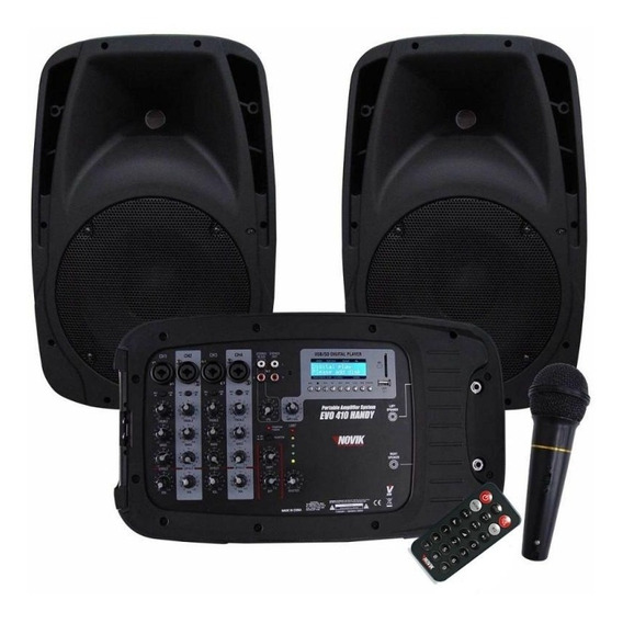 Som Novik Evo 410 Bluetooth Usb Sd 2 Caixas 300w 4 Canais