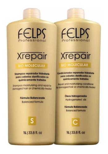 Felps Kit Xrepair Shampoo + Concidicionador 2x1l + Brinde