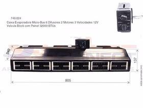 Caixa Evaporadora Micro Bus 32.000btu's Completa 6 Difusores