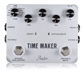 Pedal Guitarra Delay Rowin Time Maker