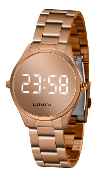 Relógio Lince Feminino Led Digital Branco Espelhado Mdr4617l
