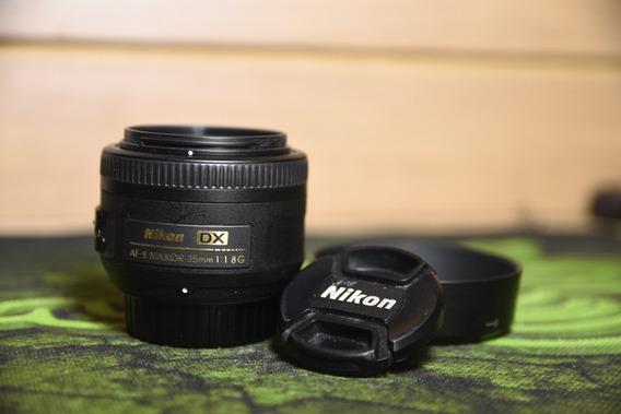 Lente Nikon Af-s Dx Nikkor 35mm F/1.8g Autofoco