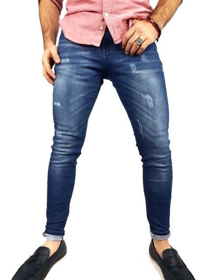 Pantalon De Mezclilla Fit Skynni Para Hombre