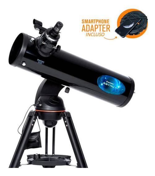 Telescópio Computadorizado Refletor Newtoniano Astro Fi 130 Mm Celestron Wi-fi App Skyportal Com Adaptador De Smartphone