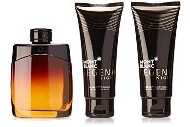 Montblanc Legend Night Cologne Kit 1 Perfume Parfum 100 Ml + 1 Gel De Banho 100 Ml + 1creme Pós Barba