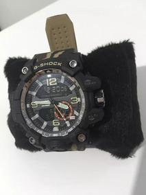 Relógio Marrom Camuflado Esportivo Digital Analógico G-shock