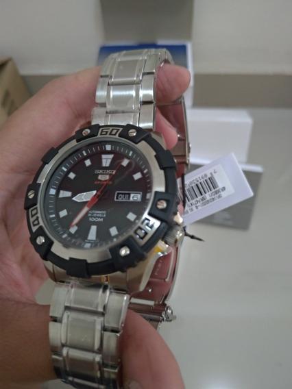 Relógio Automático Seiko 46mm 100% Novo E Original 4r36bd/1