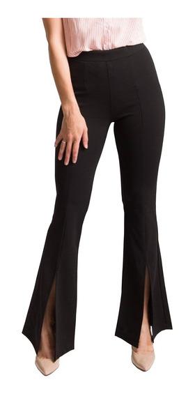 Pantalon Calza Mujer Oxford Con Tajo De Creppe