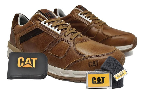 Tenis Caterpillar Woodward Sapatenis Cat Carteira E Cinto