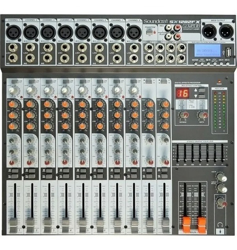 Mesa De Som Soundcraft Sx 1202 Fx Usb Nf-e Garantia Sx1202