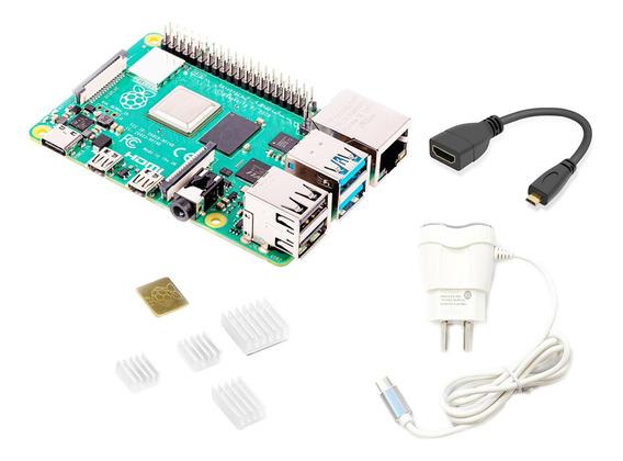 Raspberry Pi 4 4gb Kit Element14 Fuente Disipadores